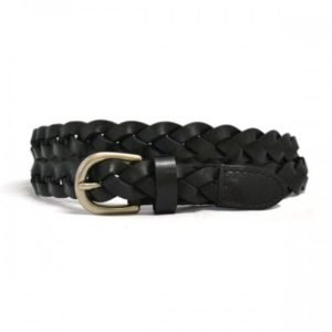 Carol Leather Belt - Black