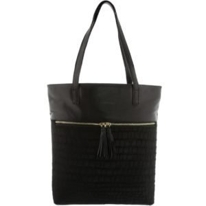 Prudence Leather Tote Croc
