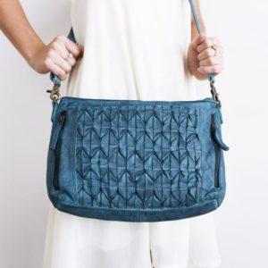 Origami Shoulder Bag _ Blue