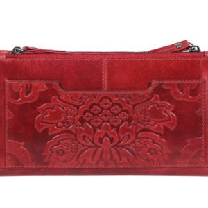 Embossed Womens Wallet_red