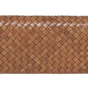 Weave Leather wallet Tan