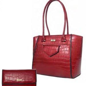 Pandora Leather handbag_Wallet set_red