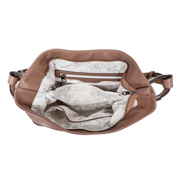 DINORA Shoulder bag Latte Open 1