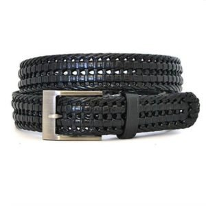 Jacks_mens_leather_woven_belt_black