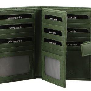 Pierre Cardin Ladies Leather Wallet_open