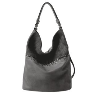 Charleze Canvas & Leather Hobo