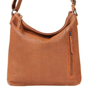 Leather Shoulder Bag_tan