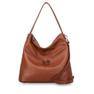 LEO shoulder bag-TAN-F