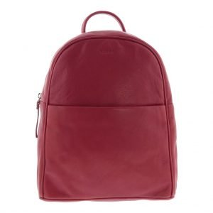 Avalon Soft Leather Backpack_red