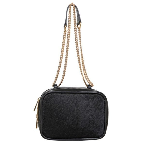 Hudson two-way chain bag-fur/gold