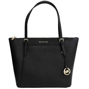 Michael_Kors_Ciara_Large_Top_Zip_Tote_Handbag_Black_