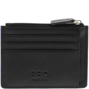 Clayton RFID Leather Card Holder_BLK