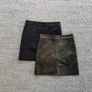 ALine Leather Skirt_Image