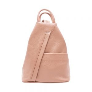 Italian Leather Backpack_Pink