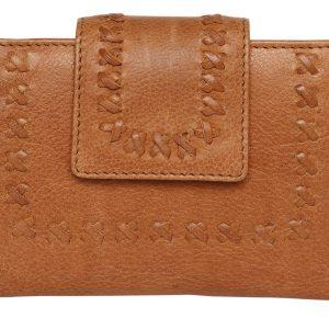 ladies Leather Flap Wallet_tan