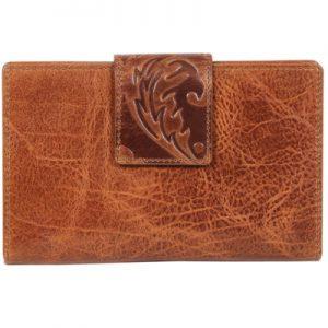 Embossed Ladies Leather Wallet
