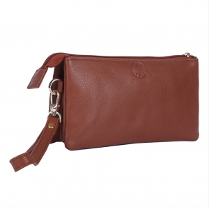 Eve Leather Clutches_Tan_side