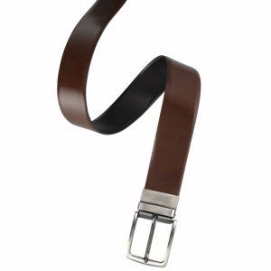 Reversible Leather Belt_Black/Tan